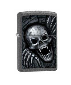 original zippo skull clawing out totenkoof feuerzeug rauchen grau accessoire