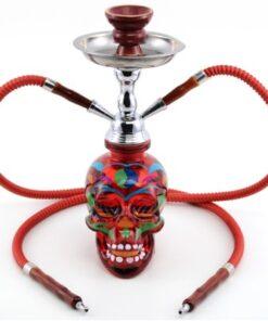 wasserpfeife totenkopf skull schischa la catrina 2er rauchen rot