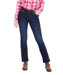 queen kerosin jeans dark blue wash bootcut hose fashion dunkelblau mode damen kleider