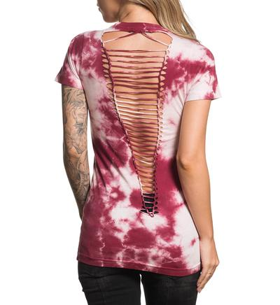 affliction shirt tshirt love defined rosa mode fashion herz tauben oberteil kleider