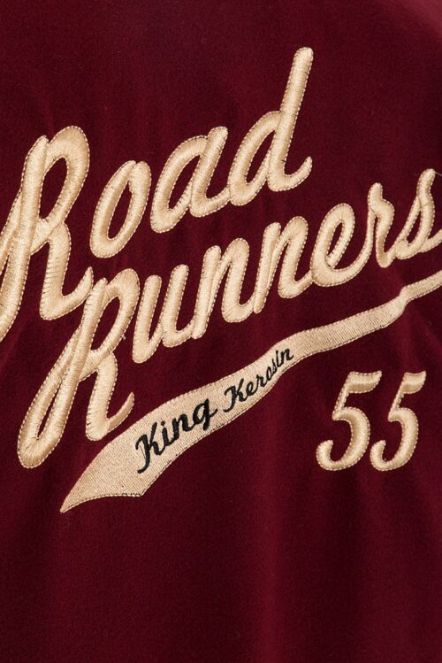 king kerosin baseball jacke road runners rot schwarz fashion mode herren kleider oberteil