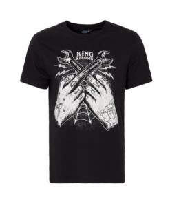 king kerosin hard ride tschirt shirt schwarz fashion herren kleider fuck