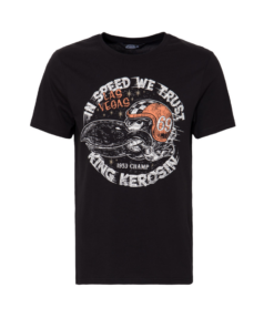 king kerosin shirt tschirt in speed we trust schwarz fashion mode herren kleider
