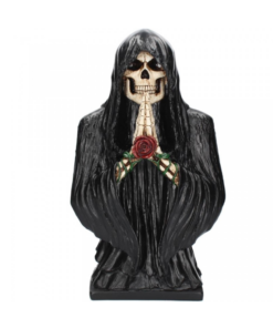reaper of the rose sensemann rose statue schwarz dekoartikel nemesis now