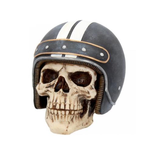 cafe racer stkull totenkopf dekoartikel statue biker nemesis now