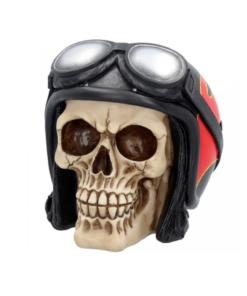 hell fire skull dekoartikel statue totenkopf biker flammen nemesis now