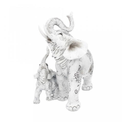 statue henna happiness elefant baby statue dekoartikel nemesis now weiss