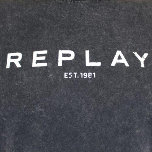 replay shirt tshirt old wash grau mode fashion kleider oberteil herren