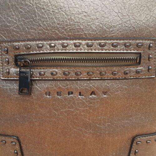 replay rucksack tasche silber mode fashion accessoire damen