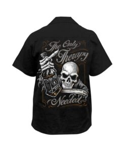 lethal threat hemd the only therapy schwarz mode fashion printdesign