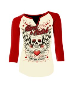 Lethal angel hardtocatch raglan sleeve oberteil gelb rot mode fashion damen kleider