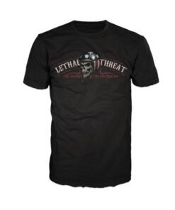 lethal threat shirt tschirt ride hard mode fashion oberteil schwarz herren