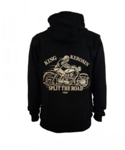 king kerosin hoodie split the road sweater stickerei oberteil herren mode fashion motorrad motorcycle