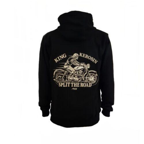 king kerosin hoodie split the road sweater stickerei oberteil herren mode fashion motorrad motorcycle