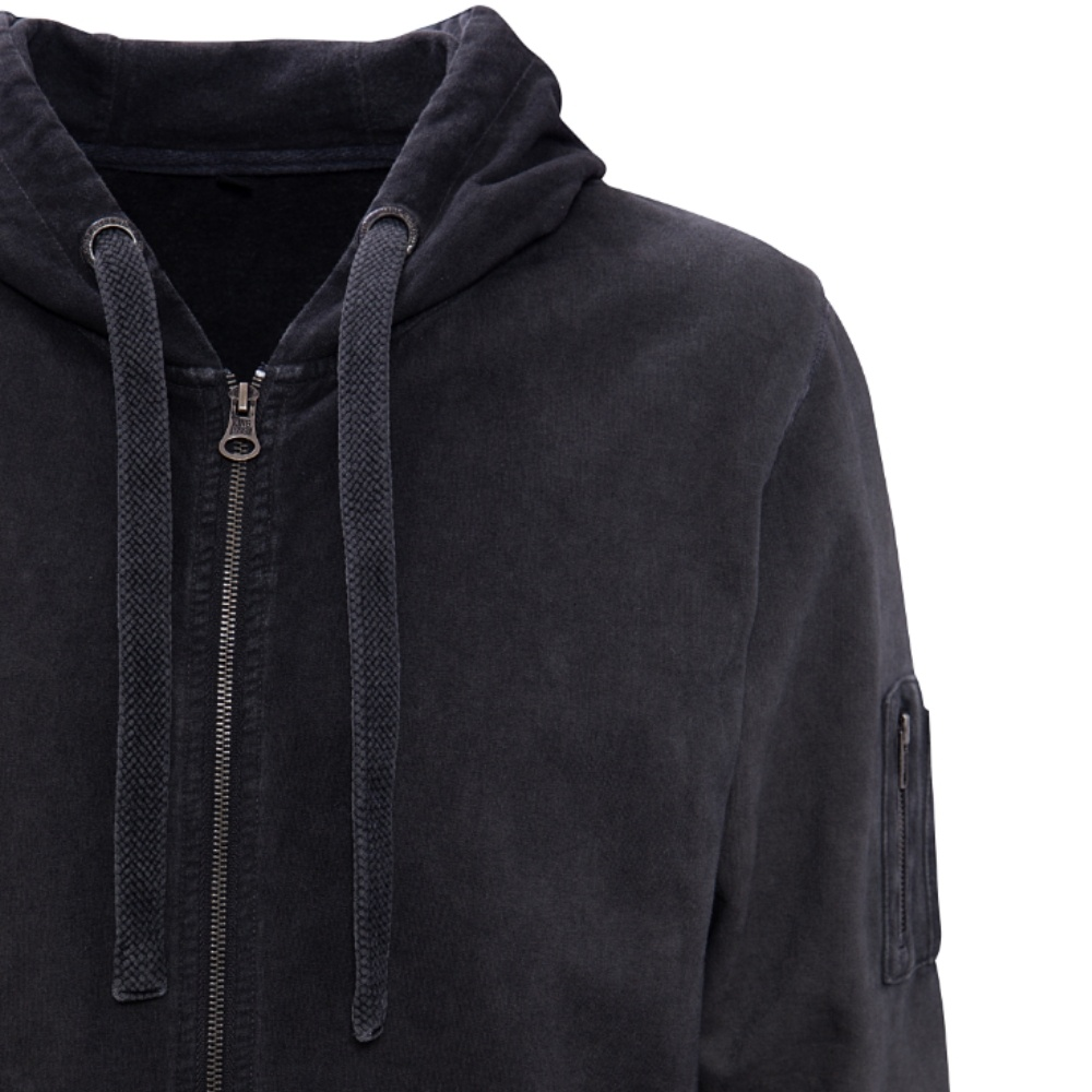 King Kerosin hoodie with embroidery Dark Grey
