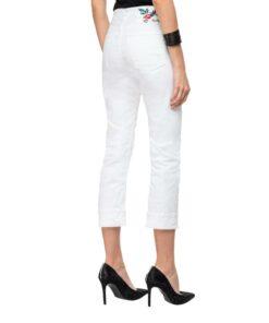 replay jeans maghy hosen mode fashion damen bekleidung weiss