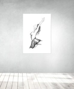 arte opere d'arte opere su tela poster galleryprint tattooworld rui lopes balletto donna