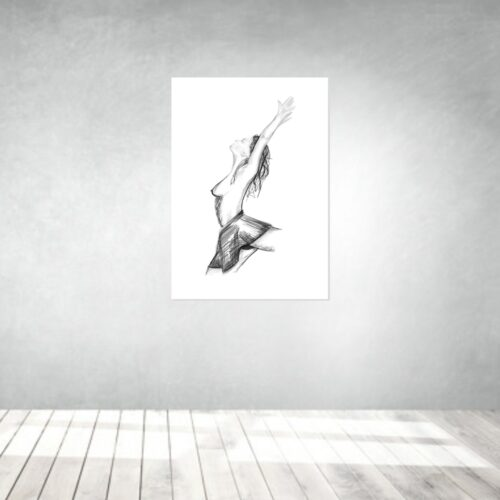art artwork kunstwerke leinwand poster galleryprint tattooworld rui lopes ballet woman