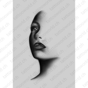 art artwork kunstwerke leinwand poster galleryprint tattooworld rui lopes woman shadow portrait