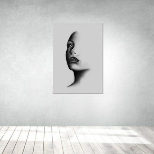 art artwork kunstwerke leinwand poster galleryprint tattooworld rui lopes woman shadow portrait