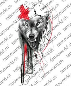 wolf trash polka tattooworld tattoo tattoovorlage tattooidee