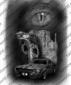 Kobra Auge tattooworld tattooidee tattoovorlage mustang