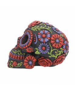sugar blooms totenkopf skull nemesis now blumen flowers dekoartikel