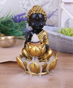 Baby Buddha backflow incense burner dekoartikel duft nemesisnow