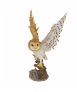 forest flight eule owl statue dekoartikel nemesis now