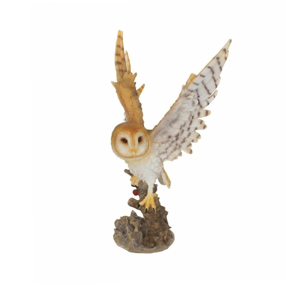 forest flight eule owl statue dekoartikel nemesis now