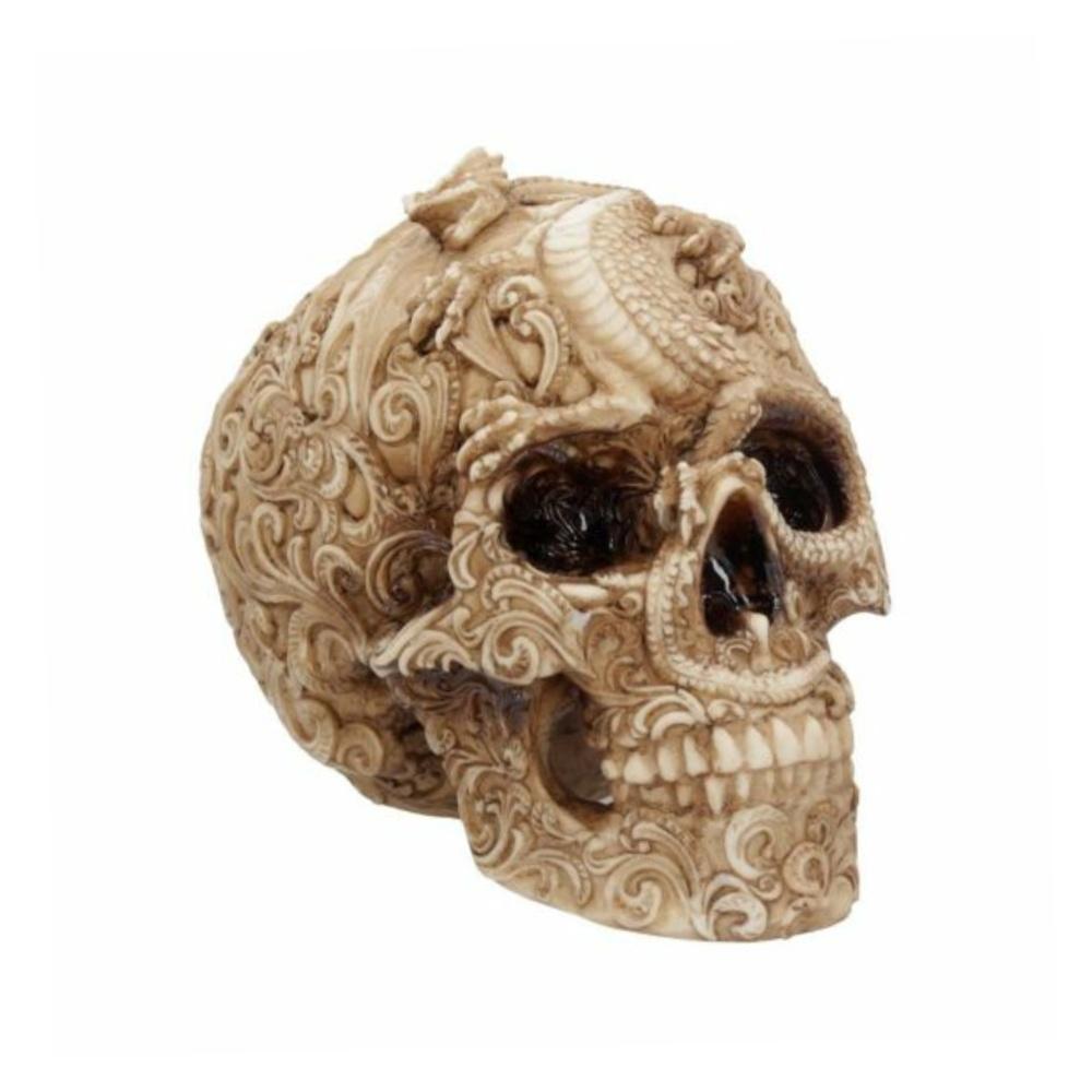 cranial drakos totenkopf skull nemesis now dekoartikel
