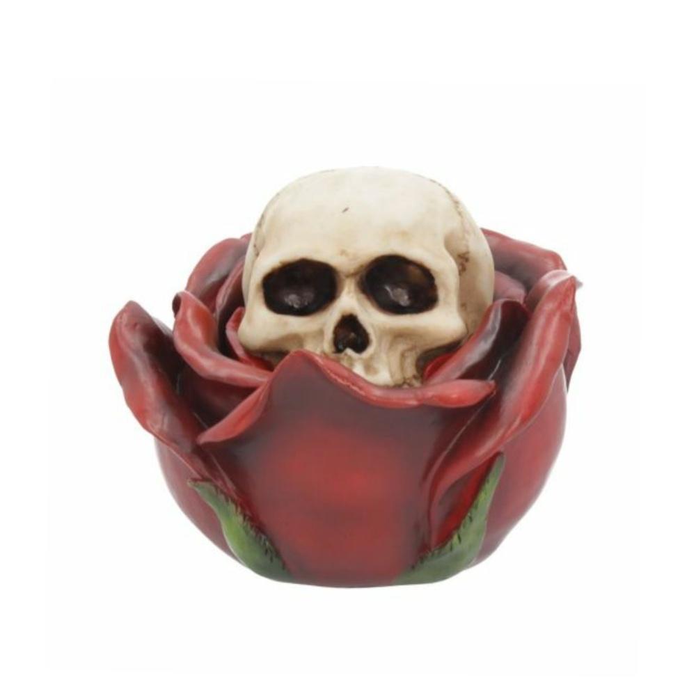 beauty and the deceased dekoartikel totenkopf skull rose nemesis now