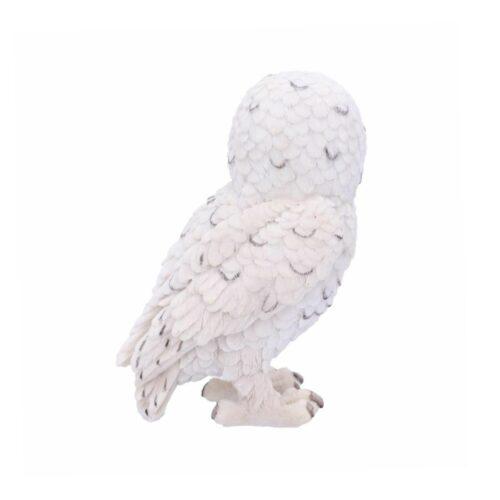 snowy watch eule owl statue dekoartikel weiss nemesis now