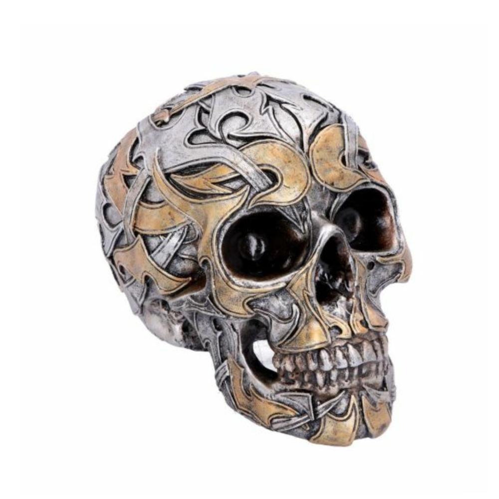 tribal raditions argent or crâne crâne décoration statue nemesisnow