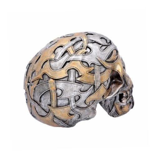tribal raditions silber gold totenkopf skull deko statue nemesisnow