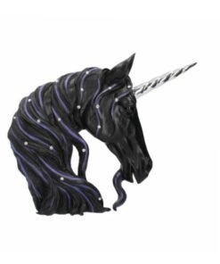 Nemesis Now jewelled midnight einhorn schwarz unicorn statue dekoartikel