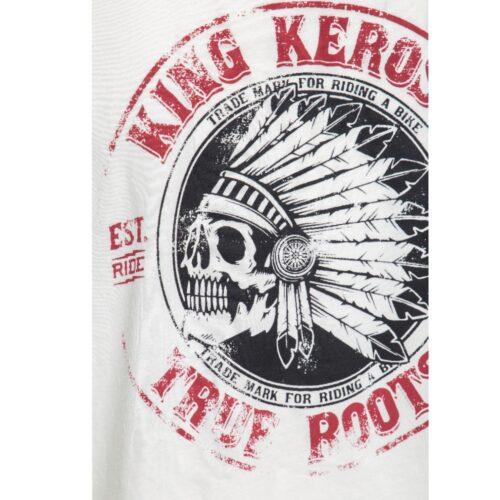 true roots, king kerosin, offwhite, weiss, shirt, t-shirt, indianer, totenkopf, printdesign, true roots