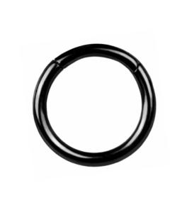 piercing, schmuck, accessoire, titan, bodywelt, twstore, segmentring, schwarz, ring