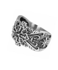 Edelstahl, rostfrei, stein, gothic, gothik, kreuz, schmuck, ring, accessoire