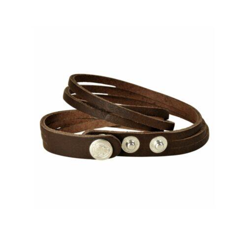 armband, leder, accessoire, schmuck, braun, druckknöpfe, twstore
