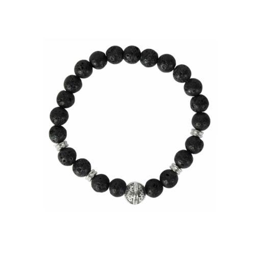 Armband, wikinger, helm, stein, edelstahl, elastisch, schmuck, accessiore, perlen