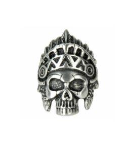 Schmuck, edelstahl, rostfrei, indianer, silberoptik, ring, skull, totenkopf