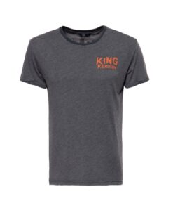 king kerosin, t-shirt, anthrazit, grau, slim fit, king of fuck, baumwolle, print design