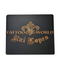 mousepad, tattooworld, merchandise, rui lopes, pc zubehör, schwarz gold, logo