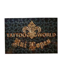 tattooworld, rui lopes, unterhaltung, puzzle, 96 teile, schwarz gold, merchandise, spiel