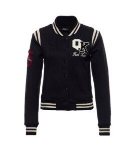 Queen Kerosin, College jacke, black, schwarz, baumwolle, Stickerei, twstore