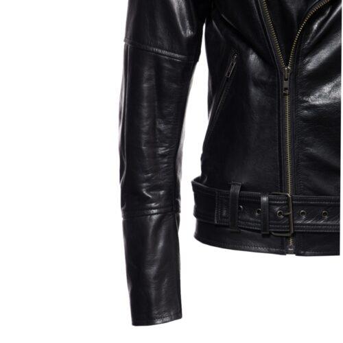 Queen kerosin, lederjacke, echtes leder, schwarz, rotes innenfutter, Taschen für protektoren, gurt, ladies, damen, fashion, mode, twstore
