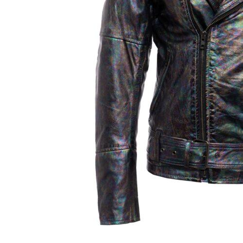 queen kerosin, bikerjacke, motorradbekleidung, motorrad, queen ladies, king kerosin, leder, echtleder, rebellisch, retrolook, schwarz, metallic