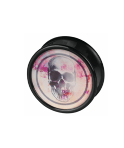 plug, totenkopf, rosa, ohr, ohrring, dehnen, schmuck, accessoire