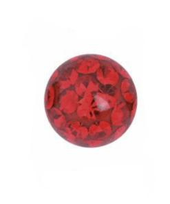 piercing, kugel, ball, innengewinde, rot, steine, aufsatz, labret, barbell, bananabell, twstore, body welt, rot